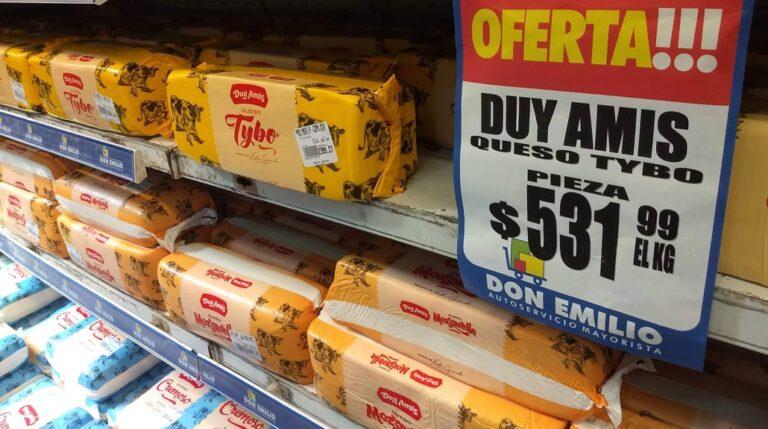 ¿Cuánto aumentaron los quesos en un año?