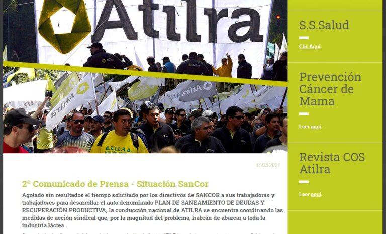 Sancor: Atilra analiza plan de lucha general, y acerca propuesta de cooperativa de trabajo