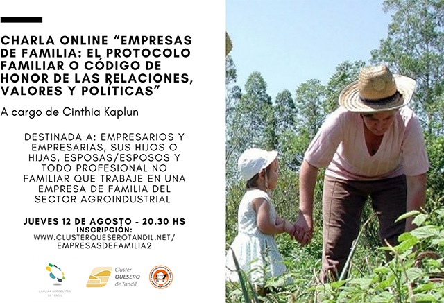 La Cámara Agroindustrial, la Cuenca, y el Cluster Quesero organizan una nueva charla de «Empresas de Familia»
